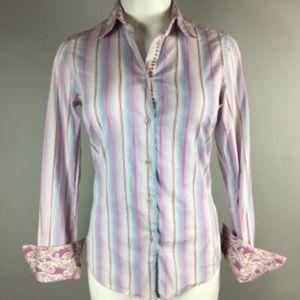 ROBERT GRAHAM Fitted striped LS shirt 2